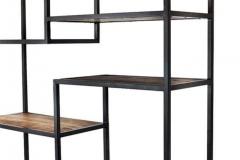 industri_le-boekenkast-mangohout-met-staal